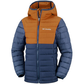 Columbia Powder Lite Hooded Jacket Boys, collegiate navy/canyon gold